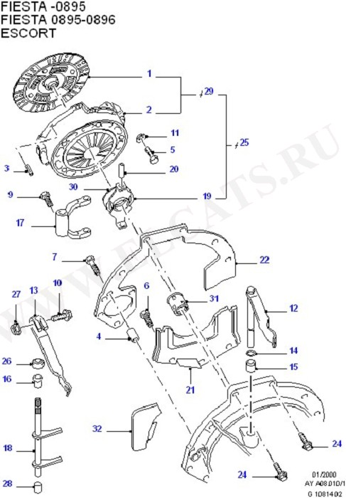 Clutch, Clutch Housing & Flywheel (OHV/HCS)