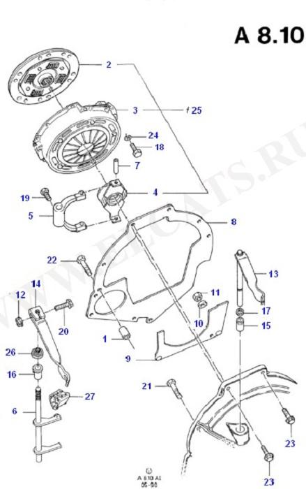 Clutch, Clutch Housing & Flywheel (Diesel 1.6)