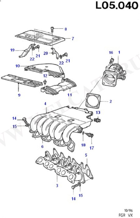 Air Intake System (Fuel Injection Pump Components)