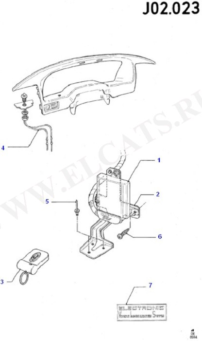 Engine Immobiliser (Wiring System & Related Parts)