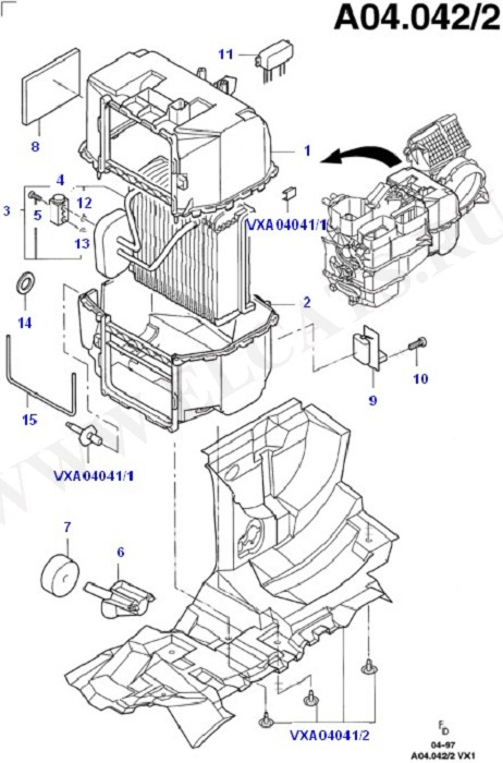 Air Conditioning System - Manual (Dash Panel/Apron/Heater/Windscreen)