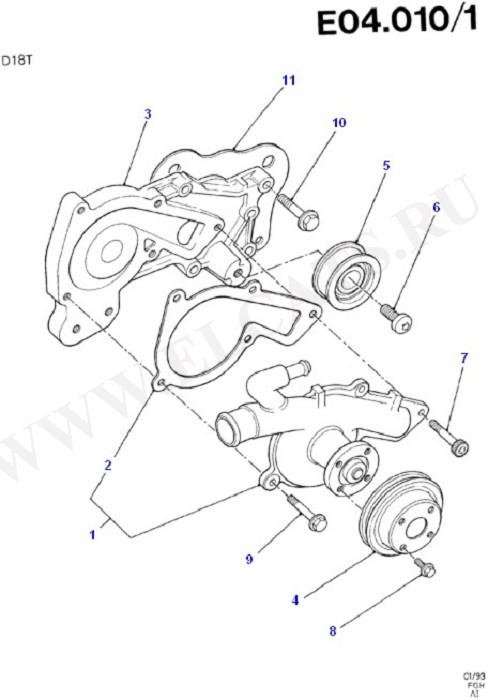 Engine Cooling (Diesel 1.8)