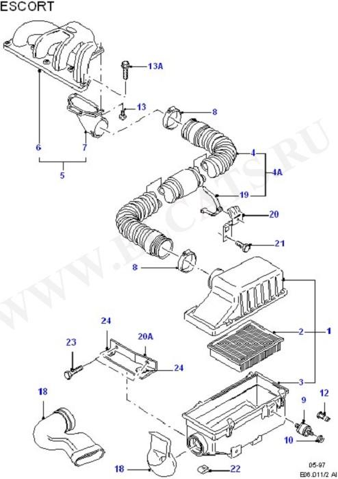 Engine Air Intake (Diesel 1.8)