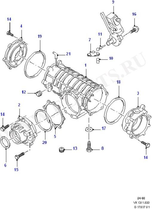 Components - Rear Axle Diff & Carr. (Задний мост)