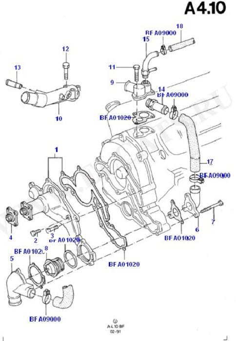 Engine Cooling (Taunus V6 2.0, 2.3, 2.8)