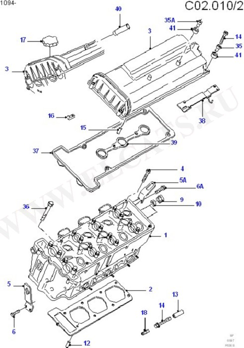 Cylinder Head/Valves/Manifolds/EGR (Cosworth V6 2.9 24 Valve)