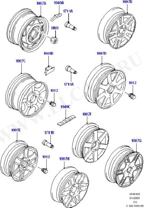 Wheels (Колеса / Отделка и крепление)