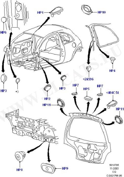 Plugs - Body (Plugs - Body And Floor)
