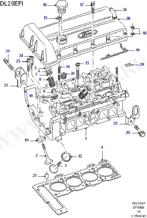 Cylinder Head/Valves/Rocker Cover (Cylinder Head/Valves/Manifolds/EGR)