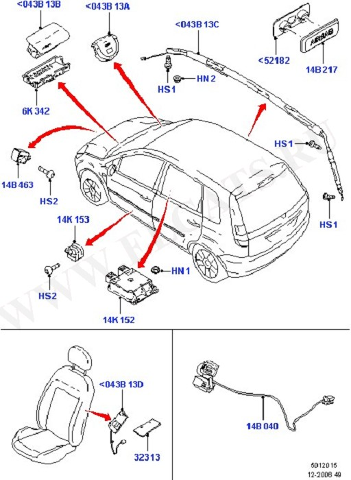 Airbag System (Occupancy Restraints)