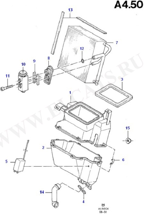 Air Conditioning System Components (Dash Panel/Apron/Heater/Windscreen)