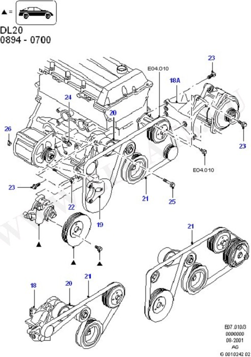 Alternator/Starter Motor & Ignition (DOHC(DL/DH))