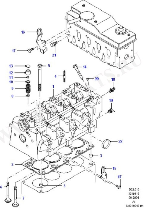 Cylinder Head/Valves/Manifolds/EGR (Lynx Engine)