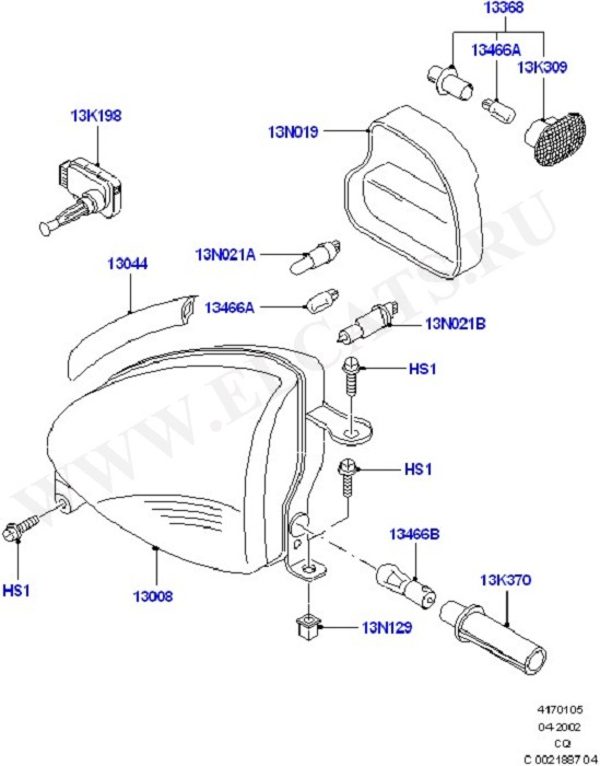 Headlamps And Front Flasher Lamps (Front & Interior Lamps)