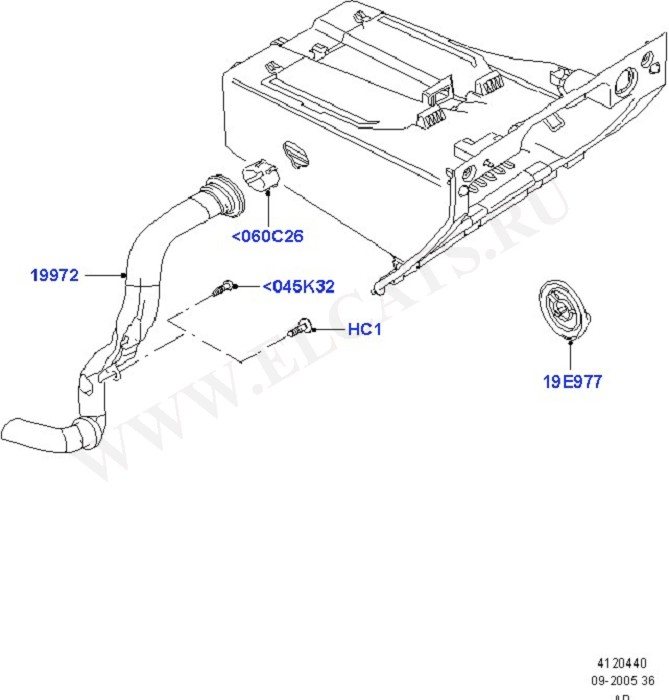 A/C - Glove Compartment (HVAC Controls & Auxiliary Heater)