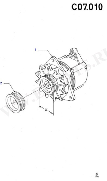 Alternator/Starter Motor & Ignition (Cosworth V6 2.9 24 Valve)