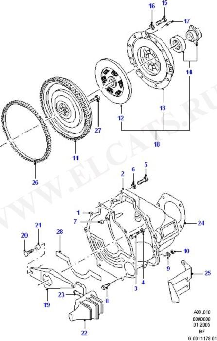 Clutch/Intermediate & Drive Plate (Taunus V6 2.0, 2.3, 2.8)