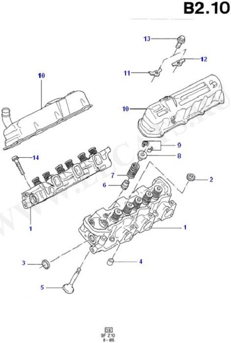 Cylinder Head/Valves/Manifolds/EGR (Taunus V6 2.4, 2.9)