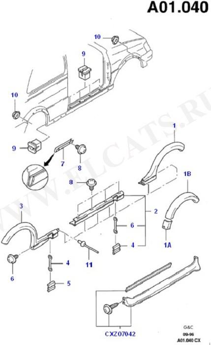 Body Extension (Кузов, рем. панели, молдинги)