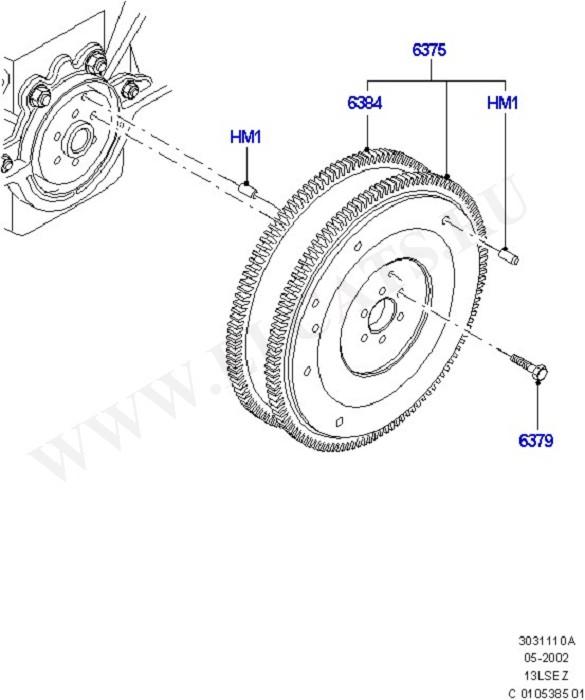Crankshaft, Pistons And Flywheel (Силовой агрегат)