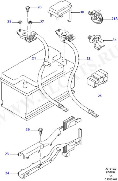 Battery And Battery Cables/Horn (Battery And Battery Cables/Horn)