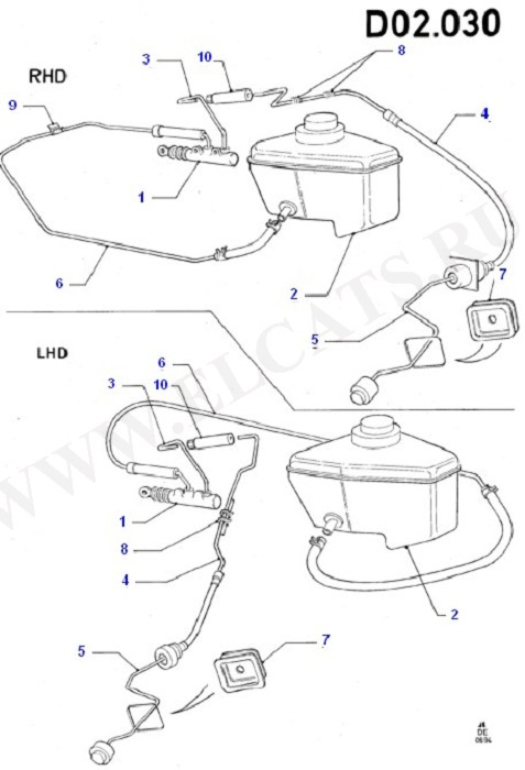 Clutch Master Cylinder (Brake And Clutch Controls)