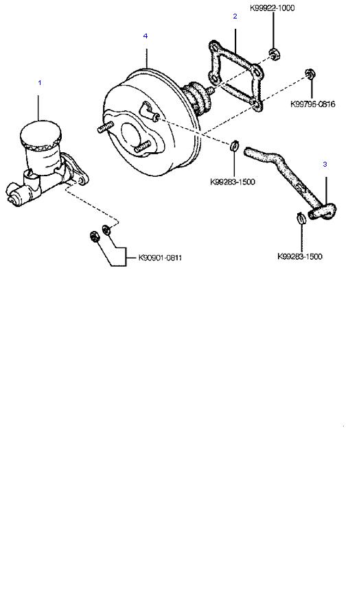 Главный тормозной цилиндр и усилитель тормозов