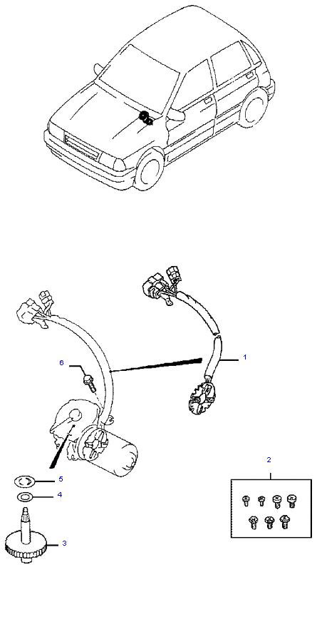 Детали электродвигателя стеклоочистителя(передний)