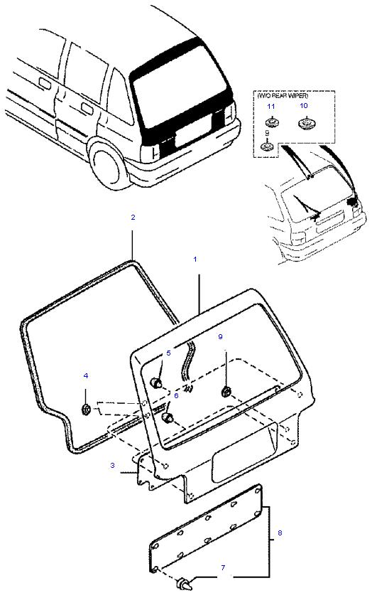 дверь багажника ( 5DOOR )