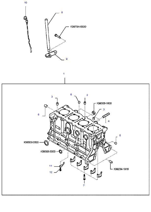 блок цилиндров в сборе ( 1.8L )
