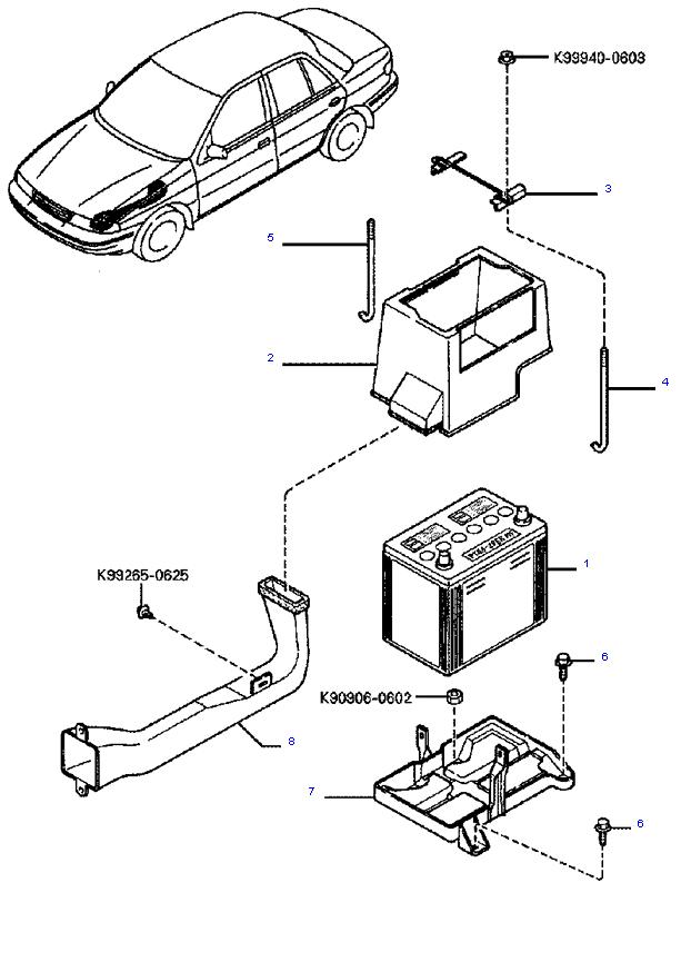 Аккумуляторная батарея и провода ( 1.8L )