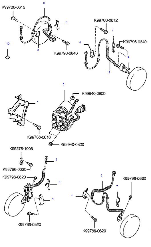 антиблокировочная тормозная система ( 1.6L )