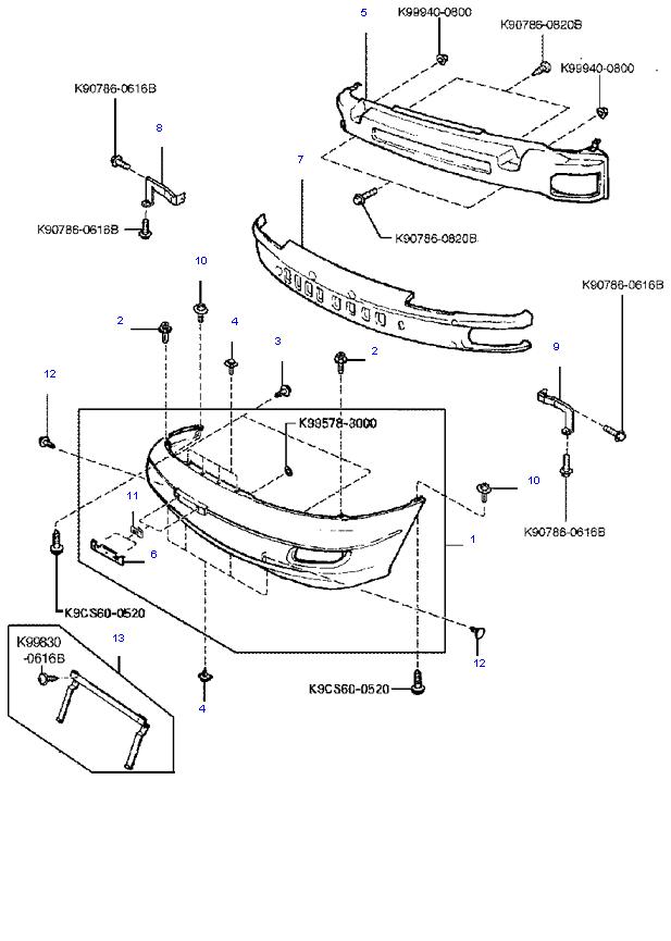 бампер передний ( 1.8L )