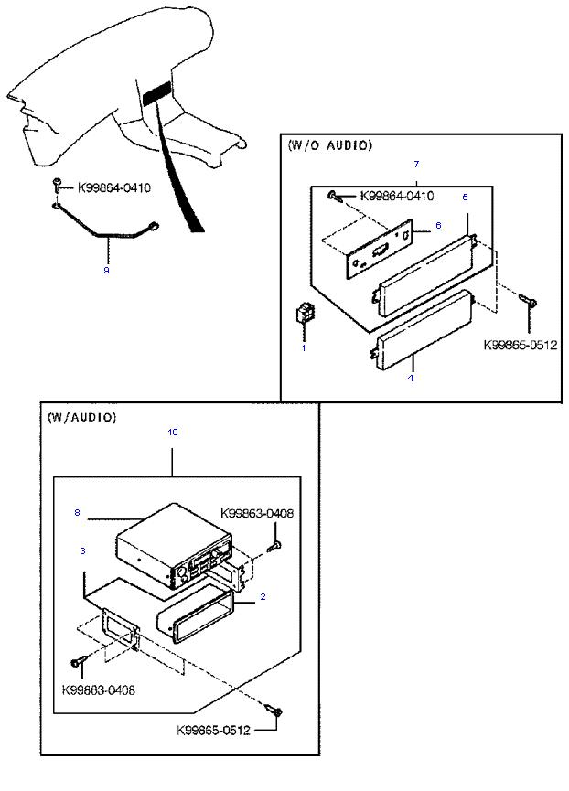 аудио система(радио и касеты) ( 1.8L )