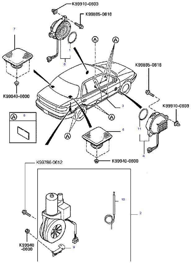 аудио система(антенна и колонки) ( 1.8L )