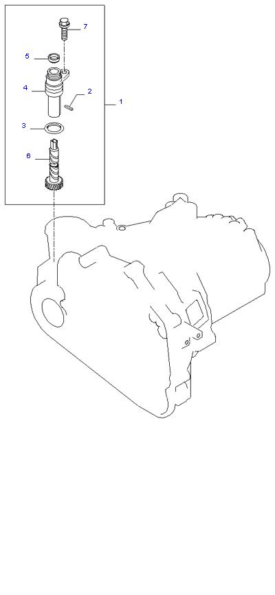 Ведомая шестерня привода спидометра ( 2.0L 5MT 4WD )
