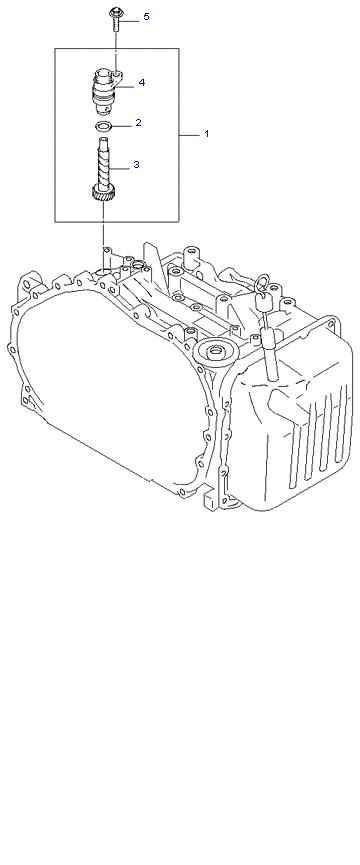 Ведомая шестерня привода спидометра ( 2.0L 4AT 4WD )
