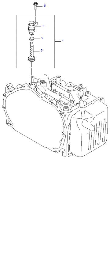 Ведомая шестерня привода спидометра ( 2.7L 4AT 4WD )