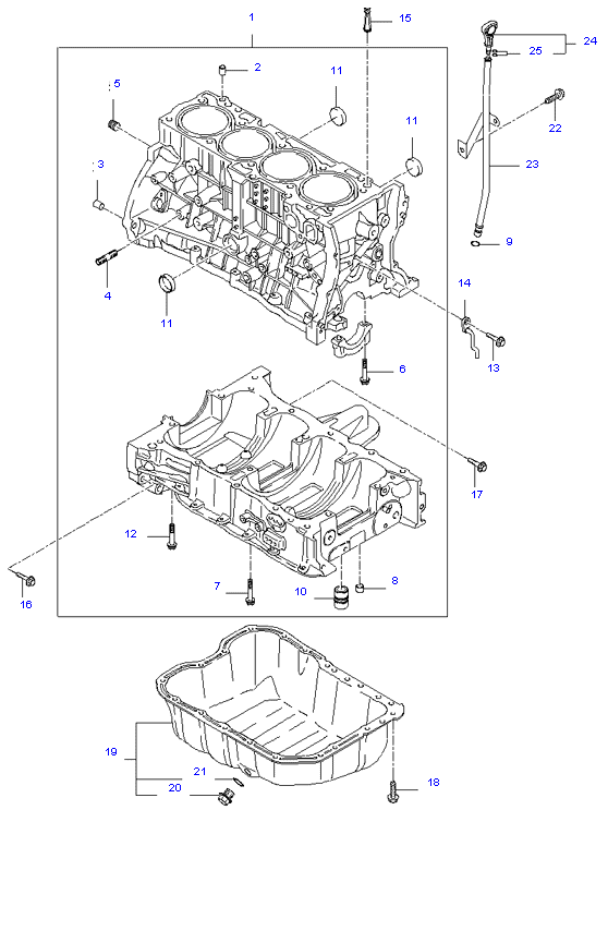CYLINDER BLOCK & OIL PAN ( 2.4L )