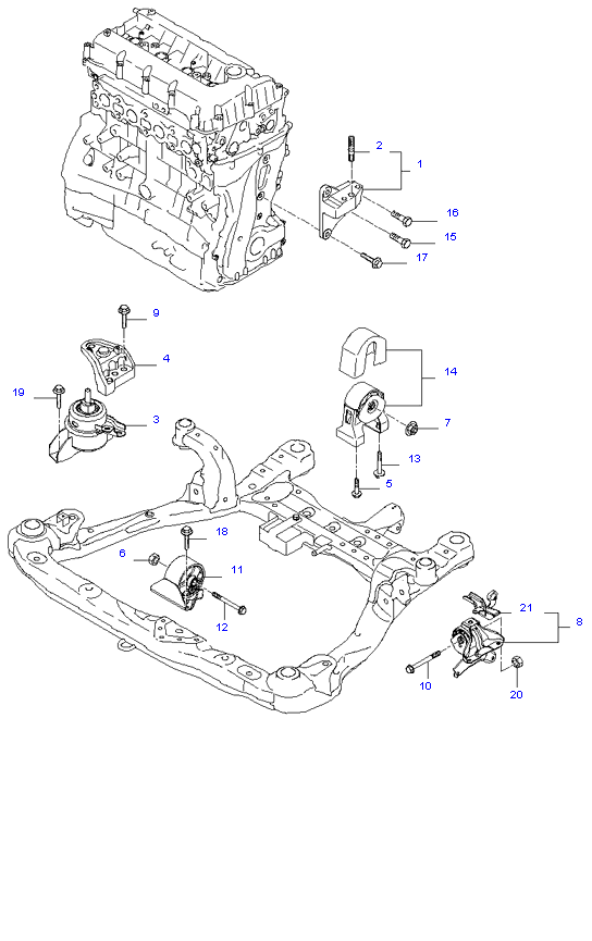 ENGINE MOUNTING ( 2.4L )