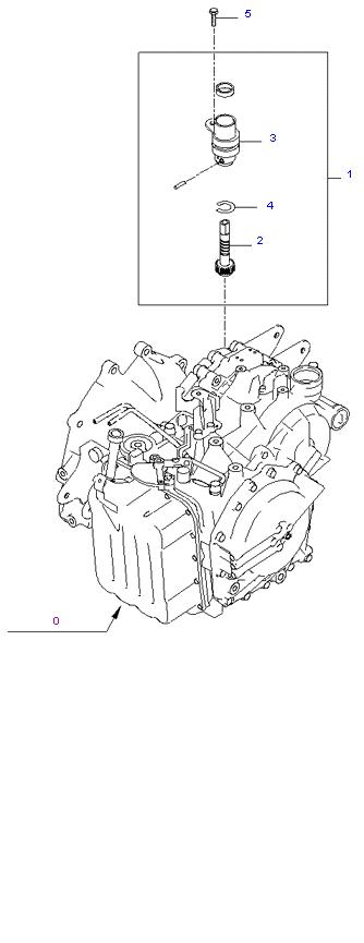 SPEEDOMETER DRIVEN GEAR(A/T) ( 2.7L )