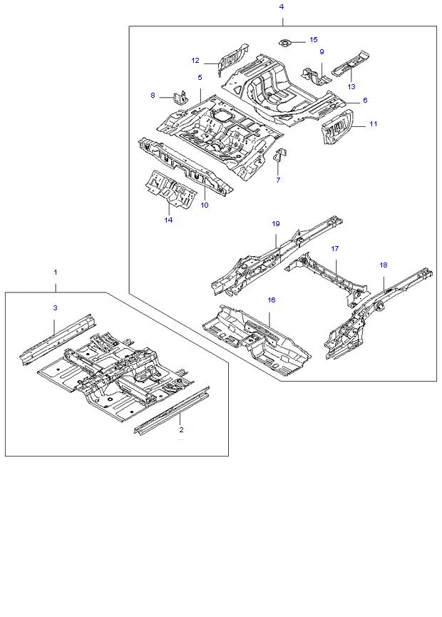 FLOOR ASSY-COMPL & ISOLATION PAD