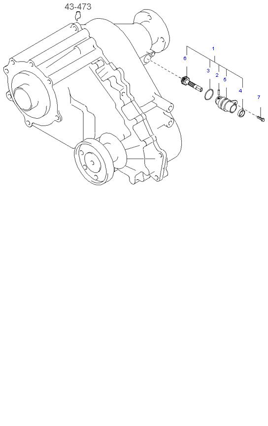 Ведомая шестерня привода спидометра ( 2.4L 5MT 4WD )