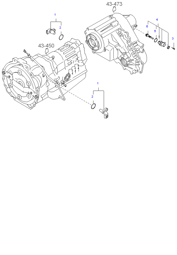 Ведомая шестерня привода спидометра ( 3.5L 4AT 4WD )