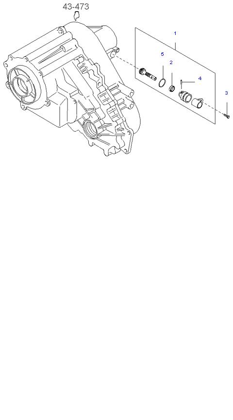 Ведомая шестерня привода спидометра ( 3.5L 5AT 4WD )