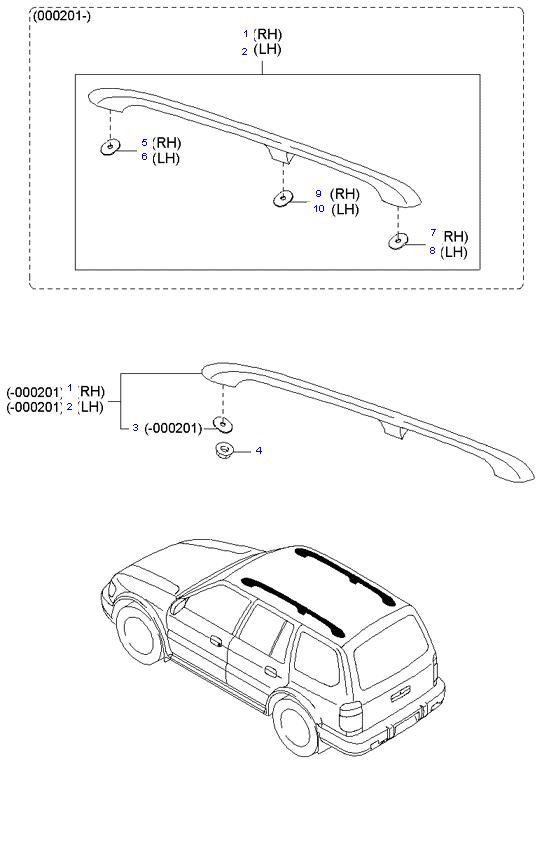 Багажник на крыше ( 5DOOR WAGON(5) )