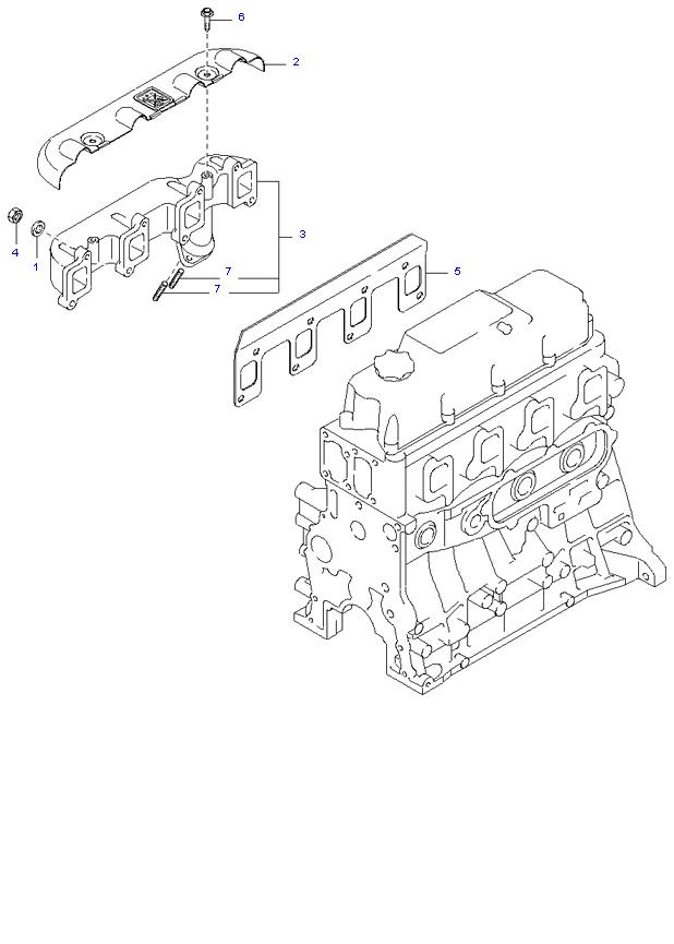 Выпускной коллектор ( 2.7L )