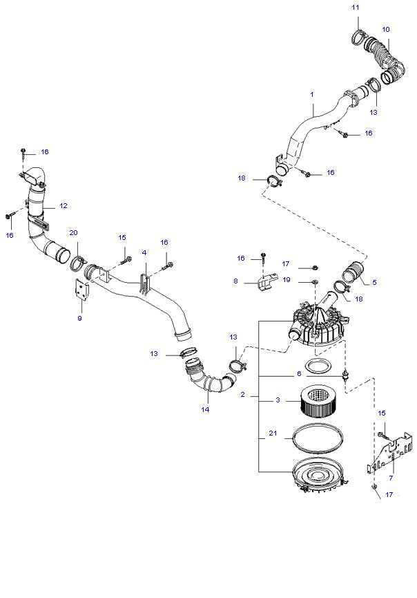 воздушный фильтр ( 2.7L )