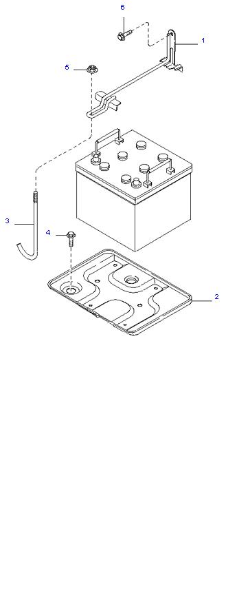 Аккумуляторная батарея и провода ( 2.7L )