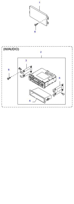 аудио система(радио и касеты)